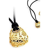 Black Rope Alloy Necklace Hollow Out Flowers Small Bag