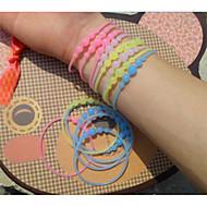 Leucht mit Silikagel-Handring durchschein fluoreszierende Farbe Armband (Farbe zufällig)