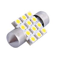 31mm 3W 150LM 3000K 12x3528SMD blanc chaud LED pour la voiture de lecture / License Plate / Porte lampe (DC12V, 1PCS)