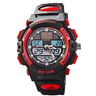 Children Multifunction Dual Time Zones LED Sports Wrist Watch 50m Waterproof (Assorted Colors) Cool Watches Unique Watches
