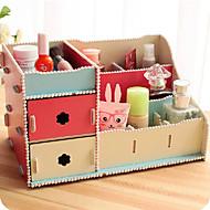 "11,7 caixa de armazenamento de cosméticos ""simples estilo coreano decorativo pérola"