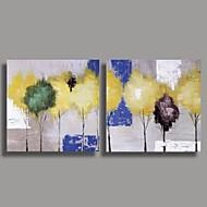 Pintura al óleo pintada a mano abstracta moderna con extendía Frame Set de 2