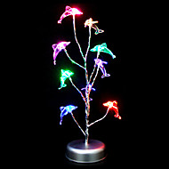 Colorful forme de dauphin en plastique Lampe de table