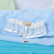 Elegant Satin And Organza Wedding Garter