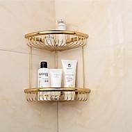 kultainen maali kolmio kaksinkertainen hyllyt messinki materiaalia seinälle kylpyhuone saippua kori