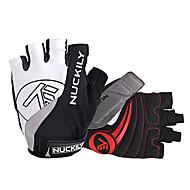 NUCKILY® スポーツグローブ サイクルグローブ サイクルグローブ 防滑り / 高通気性 / 反射 フィンガーレス サイクルグローブ サイクリング