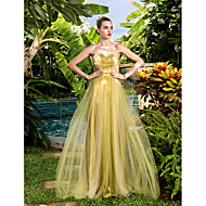 Prom/Military Ball/Formal Evening Dress - Gold Plus Sizes Sheath/Column Sweetheart Court Train Tulle