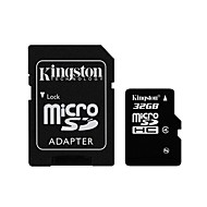 Kingston 32GB microSDHC Class 4 Flash Memory Card with SD Adapter