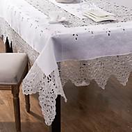 sticken Tischdecke handgemachten weißen Tischdecke