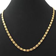 u7® mannen vintage 18k chunky goud gevulde figaro ketting ketting voor mannen 6mm 22inches 55cm