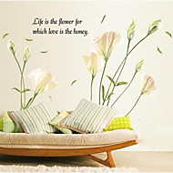 Doudouwo ® Florals Elegant Wind WaveFlower Petal Lily Wall Sticker