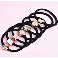 (3PC Random) More Simple and Practical High Elastic Black Elastic Hair Bands