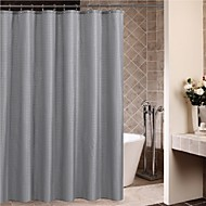 Minimalist Grey Square Overlapping Shower Curtain