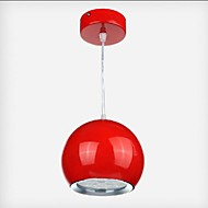 1w Pendant Light ,  Modern/Contemporary / Globe Painting Feature for LED MetalDining Room / Kitchen / Study Room/Office / Kids Room /