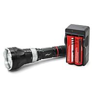 LT-QS02 Magnetický spínač 5 Mode 1xCree XML T6 Potápění LED svítilna (1000LM.1x18650.Black)