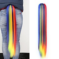 szivárvány kötőjel hosszú többszínű egyenes körmös lófarok