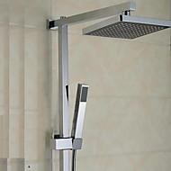 élégant robinet de douche avec pomme de douche 8 pouces + douche à main