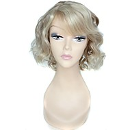 sem tampa de alta qualidade sintética lado curto encaracolado peruca estrondo