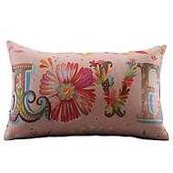 Coton/Lin Housse de coussin , Floral Rustique