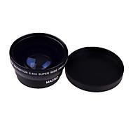 0,45 X 49 milímetros Wide Angle Lens Macro para Sony Nikon Canon Fujifilm Pentax Samsung Panasonic Leica Olympus Sigma Lente 49 milímetros Tópico