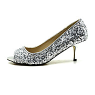 Women's Spring / Summer / Fall Peep Toe / Platform / Shoes & Matching Bags Dress / Party & Evening Stiletto Heel Silver / Gold