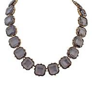 European Style Retro Simple Transparent Square Necklace(More Colors)