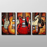 Modern Abstract  Oil Painting with Stretched Frame Set of 3 Hand-Painted Canvas