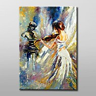 Hand-Painted Abstract Portrait One Panel Canvas Oil Painting For Home Decoration