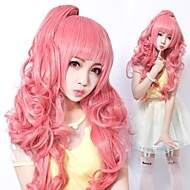 Zipper Party Girl Luka Style Pink Curly Long Sweet Lolita Wig