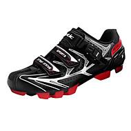 santic 남자의 운동 경량 MTB 산맥의 자전거 자전거 잠금 신발 - 빨강 + 검정