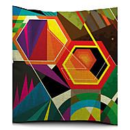 färgrik geometrisk polygon bomull / linne dekorativa örngott