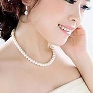 Damskie Naszyjniki choker Perlový náhrdelník Perłowy Imitacja pereł Modny White Biżuteria Na Ślub Impreza Codzienny Casual 1szt