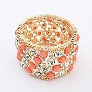 Women's Round Bangles Bracelet Alloy Multi-stone
