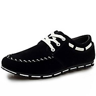 Men's Spring / Fall Closed Toe Faux Leather Casual / Athletic Flat Heel Lace-up Black / Blue / Brown Sneaker