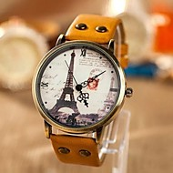 Women's Fashion Personality Leisure Map Iron Tower Watch Cool Watches Unique Watches