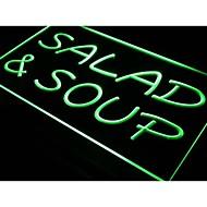 I453 saláta és leves kávézó étterem neon fény jel
