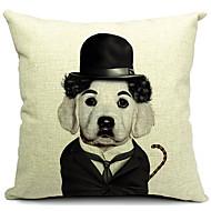 mr hund bomull / linne dekorativa örngott