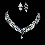 Nice Alloy With Rhinestones Jewelry Set(Including Necklace,Earrings)