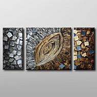 Pintados à mão AbstratoClássico 3 Painéis Tela Pintura a Óleo For Decoração para casa