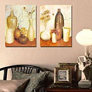 Stretched Canvas Print Art Still Life Ornamental Vases Set of 2