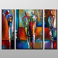 Peint à la main Abstrait Horizontale Trois Panneaux Toile Peinture à l'huile Hang-peint For Décoration d'intérieur