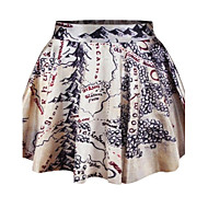 Women's Multi-color Skirts , Casual/Print/Cute/Party Mini