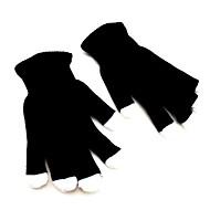 Mode 7 LED clignotante gants noirs changement de couleur rave doigt lumière