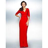 Sheath / Column Apple / Hourglass / Inverted Triangle / Pear / Plus Size / Petite / Misses Mother of the Bride Dress Sweep / Brush Train