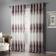 Two Panels Curtain Country Bedroom Polyester Material Blackout Curtains Drapes Home Decoration For Window