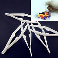 1pcs witte plastic pincet hulpmiddel voor zekering kralen hama kralen diy puzzel safty voor kinderen ambachtelijke