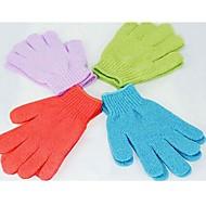 2pcs hydratantes spa eau du bain de lavage des gants bain exfoliant pour la douche (couleur aléatoire)