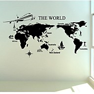 nástěnné samolepky na stěnu, velké mapě pvc samolepky na zeď