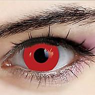 Naruto Ranmaru Pure Red Cosplay Contact Lenses(1 Pair)