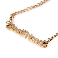 BestFriend Pattern Personable Alloy Necklace Gold(1Pc)